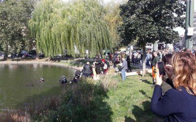 30 plongeurs pour une vaste opération nettoyage aux étangs d'Ixelles